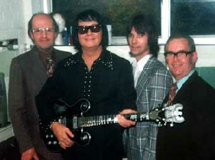 Roy Orbison being presented with his Jaydee Guitar